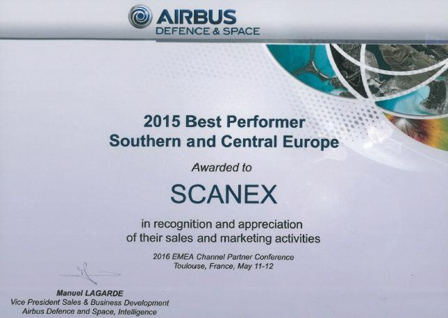 SCANEX_Best Performer 2015_Airbus DS